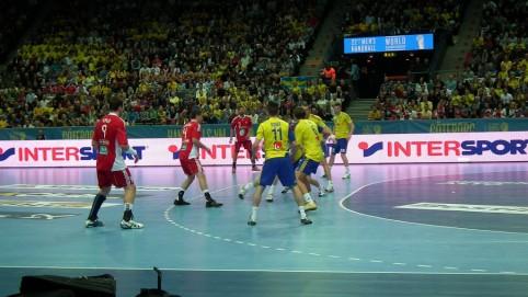Prvá fotografia zo zápasu Slovenska so Švédskom