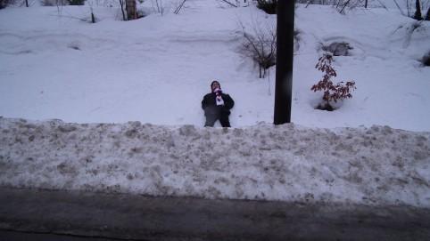 Tomáš má rád sneh ;-)