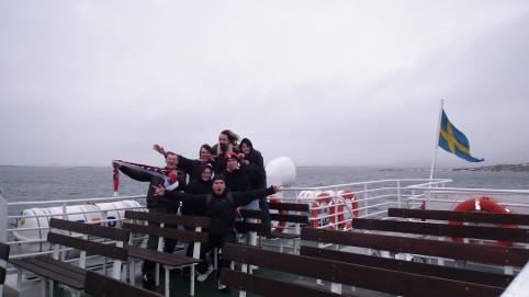 Spoločná fotka na lodi