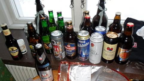A naša pivná zbierka na večerný záťah :)