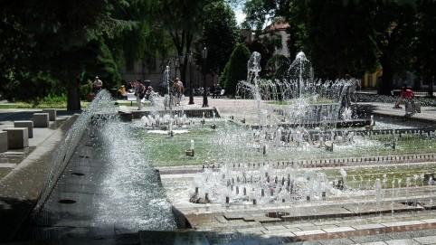 Pohľad na Spievajúcu fontánu.