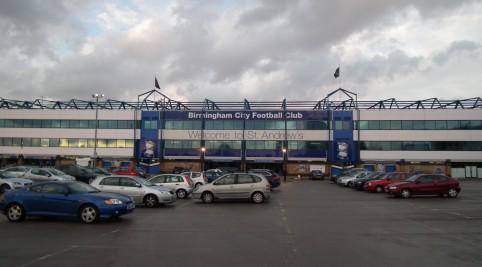 St Andrew's stadium - domovský stánok Birminghamu City
