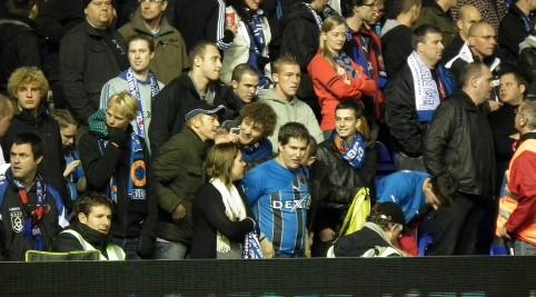Hosťujúcich fanúšikov bolo neustále počuť. Až do vyrovnávajúceho gólu boli skvelí.