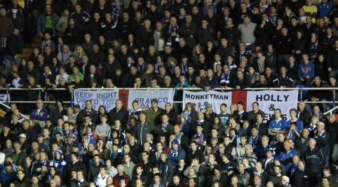 Domáci fanúšikovia postojačky čakali na vyrovnávajúci gól.